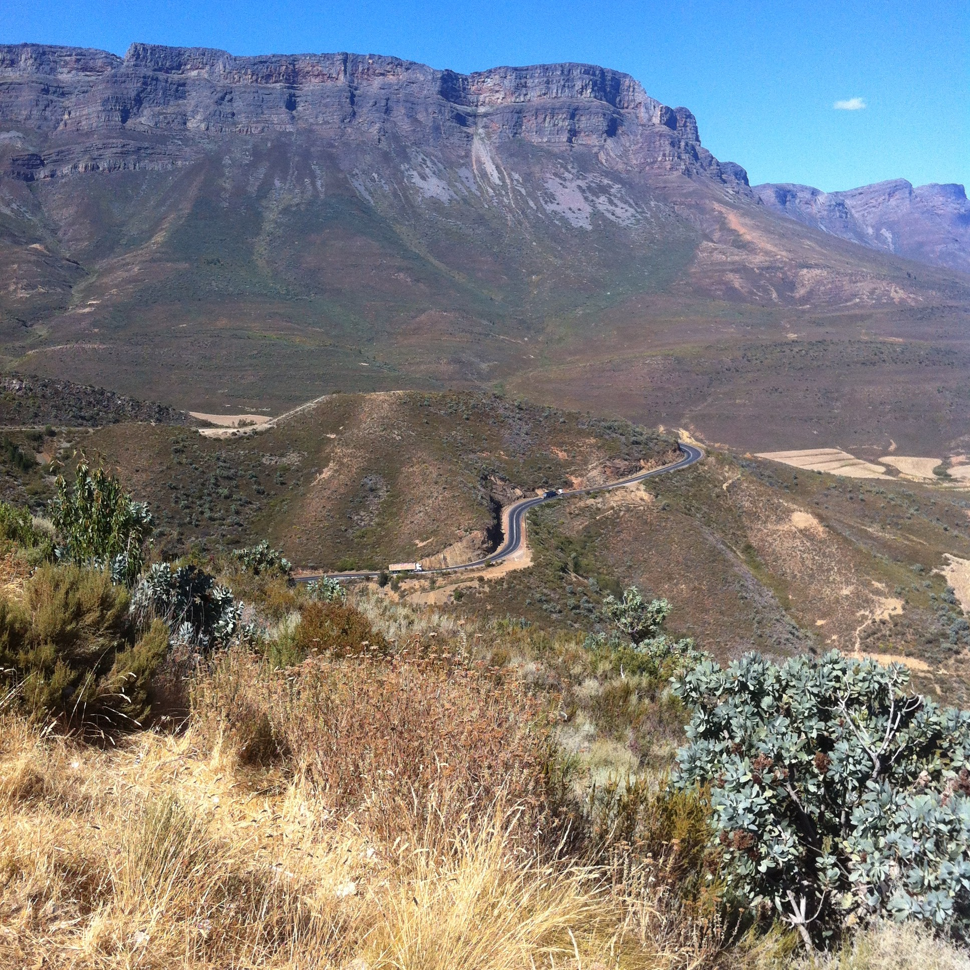 view down the Gydo Pass, Day 3, Tour de Boland