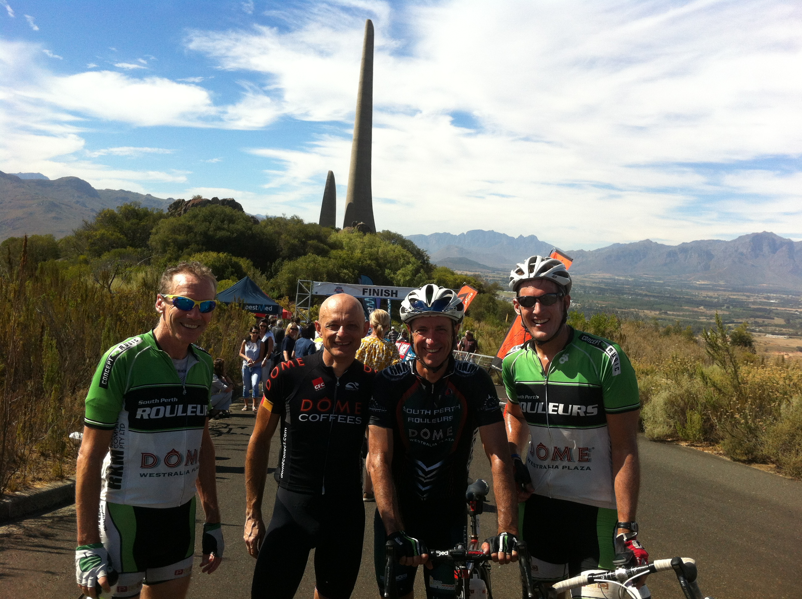 Finishing line, Day 5, Taarl Monument, Paarl