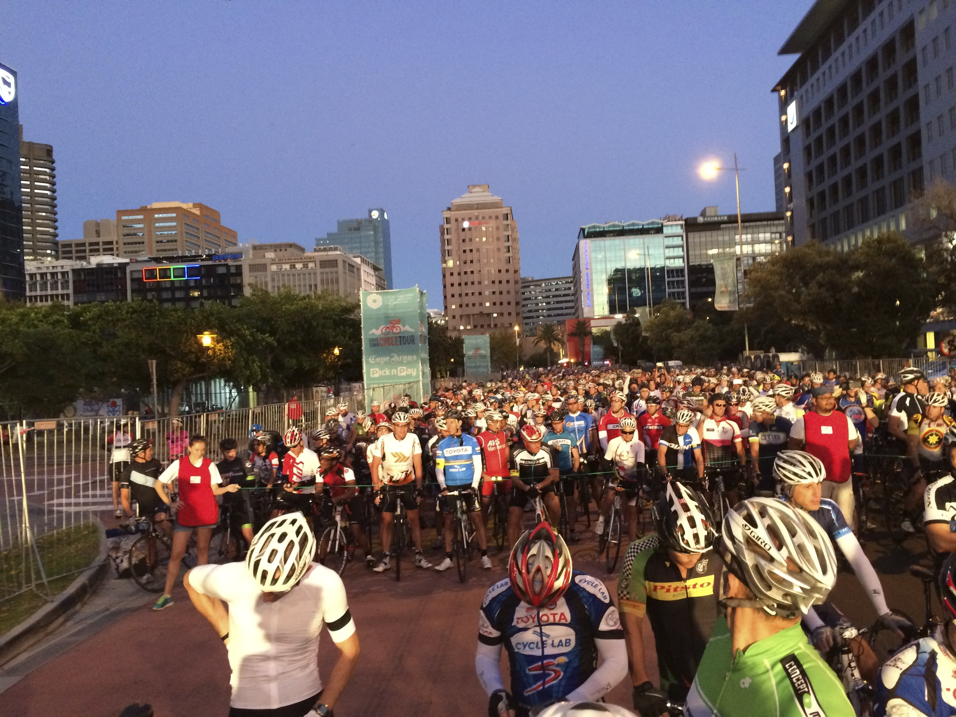 Group 1C at the starting line, Cape Town Cycle Tour, March 2015