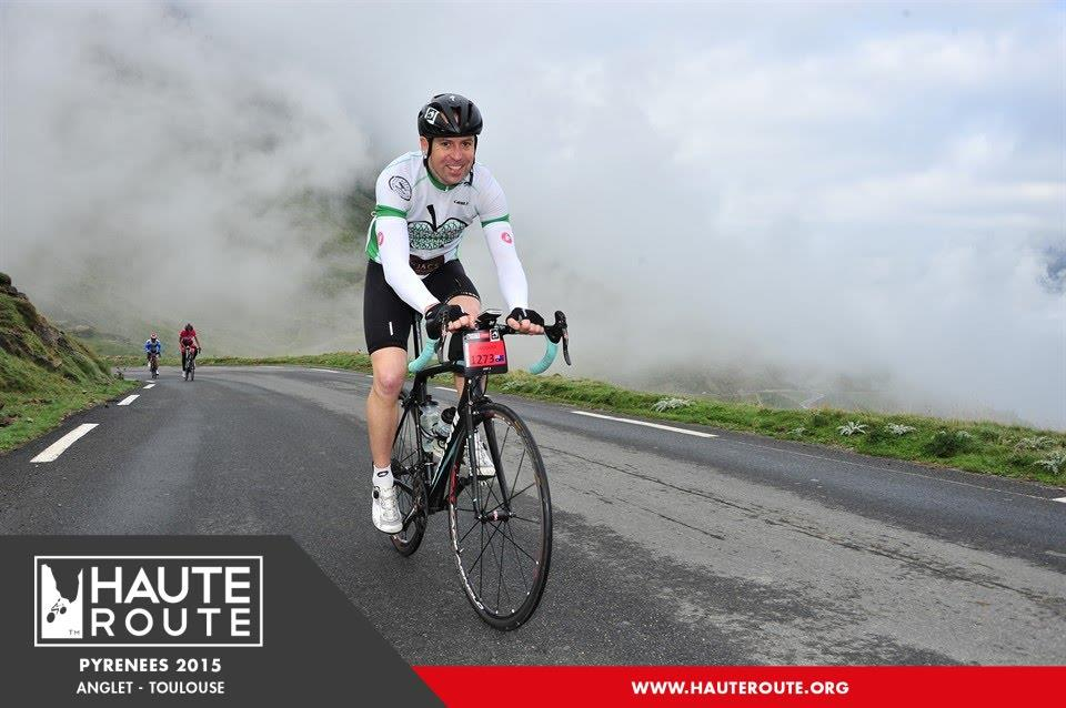 Jacques Pretorius ascending the Tourmalet