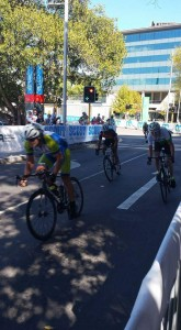 The sprint for 4th place, 55 - 60yo's
