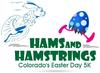 Hams and Hamstrings - Colorado's Easter Day 5K logo