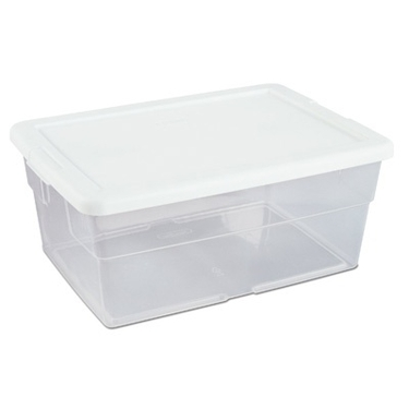 Sterilite 16 Quart Plastic Storage Box: 16-qt Stackable Clear Tote