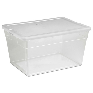 Sterilite 56 Quart Clear Stackable Plastic Tote