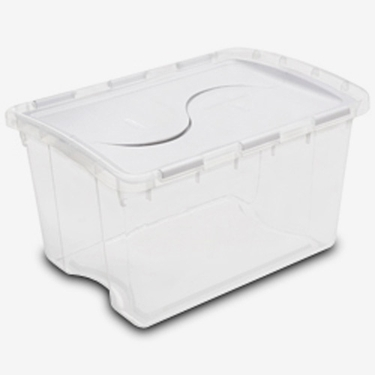 48 Quart Hinged Lid Storage Box by Sterilite