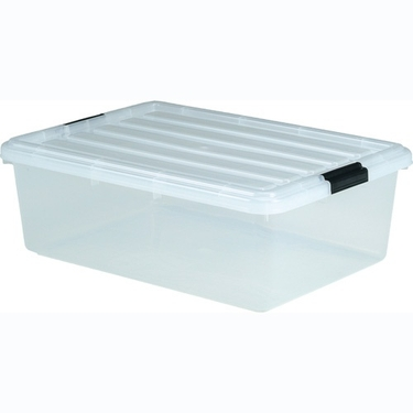 Iris Clear Stacks 33 Qt Plastic Storage Container