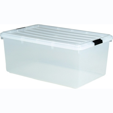 IRIS 68 Qt Clear Stackable Plastic Container