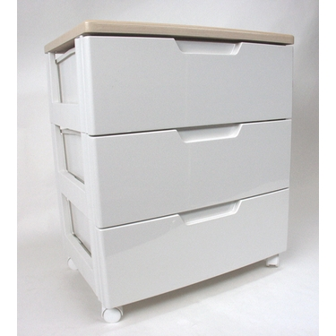 Iris Premier 3-Drawer Rolling Plastic Storage Drawers