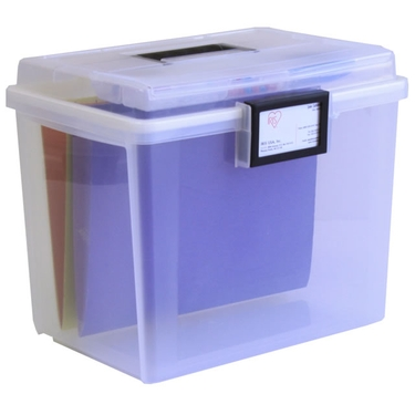 Ultimate Portable File Box by Iris - Airtight & Water Resistant!
