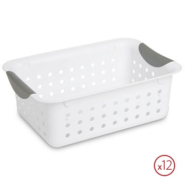 Sterilite Small Ultra Storage Basket - Case of 12