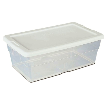 Sterilite 6 Quart Clear Plastic Shoe Boxes - 12 Pack