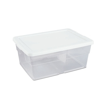 Sterilite 16 Quart Stackable Plastic Storage Boxes - 12 Pack