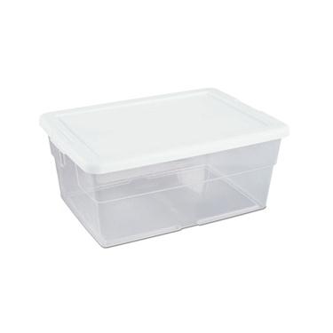 Sterilite 16 Quart Stackable Plastic Storage Boxes - 12 Pack