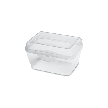 Sterilite Micro Flip Top Clear Plastic Storage Box - Case of 12