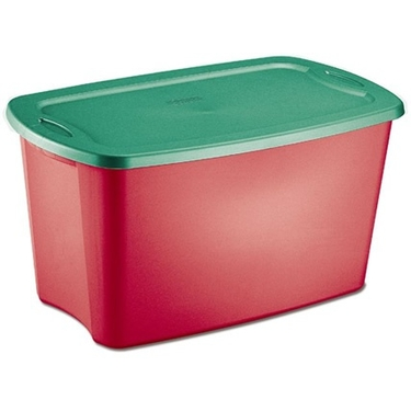 Sterilite Christmas 18 Gallon Storage Tote - Case of 8