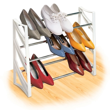 9 Pair Convertible Shoe Rack