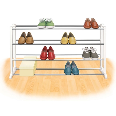 20 Pair Standing Shoe Rack