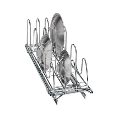 Chrome Roll Out Lid Tray Organizer - 7''x21''x9