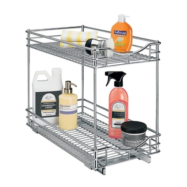 Chrome Roll-Out Double Drawer - 11'' x 18