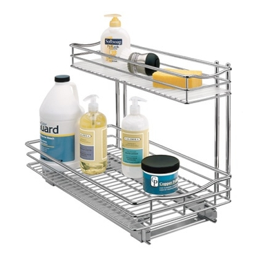 Chrome Roll Out Under Sink Cabinet Drawer - 11''x18''x14''