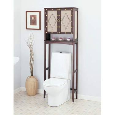 Canvas Over Toilet Spacesaver: Bathroom Cabinet Space Saver