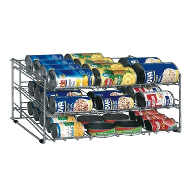 Chrome Soup Can Rack - Holds 36 Cans