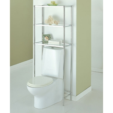Bathroom shelving units decorative bathroom shelving for Chapter bathroom space saver white assembly instructions