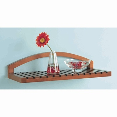 Wall Mount Wood Shelf -Spa Collection by Organize It All