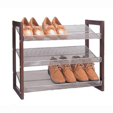 Three Tier Stackable Shoe Rack by Organize It All