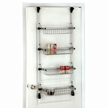 Overdoor 4-Tier Basket Unit by Organize It All
