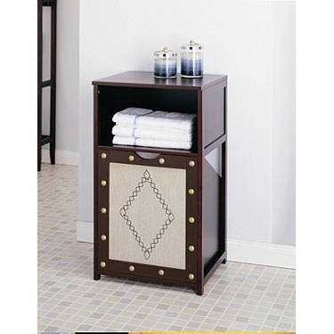 Riviere Canvas Pull-Out Clothes Hamper - Chocolate Trim
