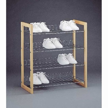 Lexington Wood 4-Tier Shoe Shelf by Organize It All