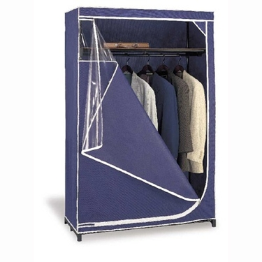Blue Deluxe Storage Wardrobe by Organize It All
