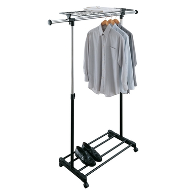 Adjustable Garment Rack with Shelf by Organize It All