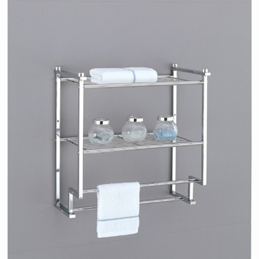 Metro Collection 2-Tier Wall Mount Rack with Towel Bar