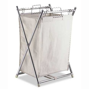 Folding Hamper with Canvas Pull Out Bag by Organize It All