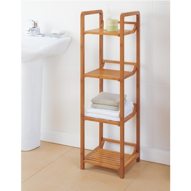 Neu Home Lohas Collection Bamboo 4-Tier Shelf Tower