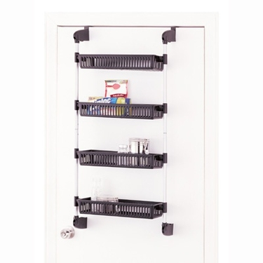 Overdoor 4 Basket Storage Unit by Organize It All
