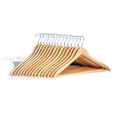 Dress Hanger with Wooden Bar - Pack of 15 by Organize It All
