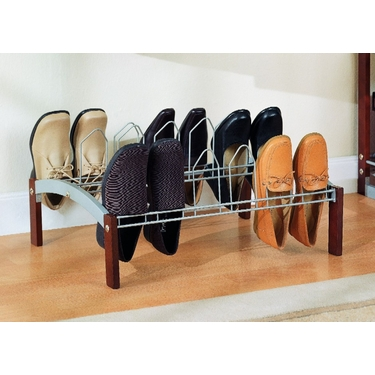 Nine Pair Shoe Rack by Organize It All