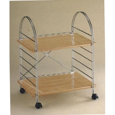 2-Tier Chrome and Wood Storage Rack by Organize It All