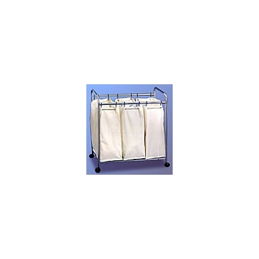 Chrome and Canvas Laundry Sorter