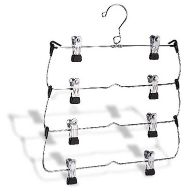 4-Tier Folding Skirt/Slacks Hanger by Organize It All