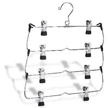 4-Tier Folding Skirt/Slacks Hanger by Organize It All