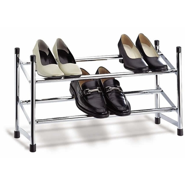 Expanding Shoe Rack-Chrome