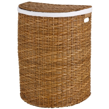Light Wicker Half-Moon Hamper by Organize It All