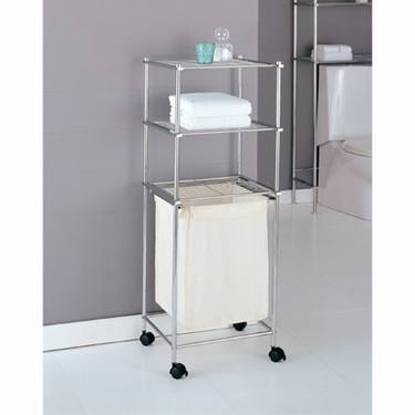 Metro Collection 3-Tier Laundry Cart by Organize It All