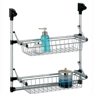 Overdoor 2-Tier Basket Unit by Organize It All