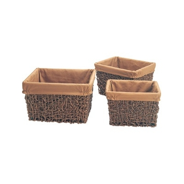 Seagrass Square Basket Set