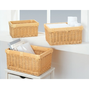 Mellow Rectangular Baskets - Set of Three by Organize It All